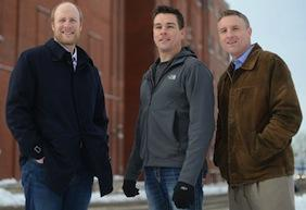 Fred Haberman (left), Dave Haider and Chris Ames are converting the former Hamm's brewery into an urban indoor farm that produces fish and greens.