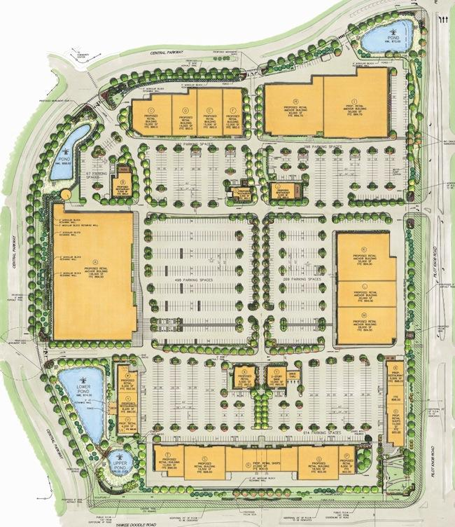 A plan of the proposed Central Park Commons project.