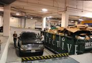A special underground loading dock was built into the garage.