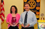 Margaret Arnold and Robert Williams each received the Teacher of the Year Award from the Fairfax Rotary Club on May 21. Williams is a German teacher at Fairfax High School and has been teaching for 28 years. Arnold is a math teacher at Lanier Middle School and has been teaching for seven years.