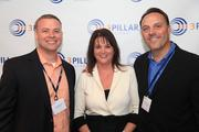 On. Sept. 19, Three Pillar Global celebrated their rebranding to 3Pillar Global, which more than 100 of the company's employees, clients, partners and community supporters attended. Included in the celebrations were, from left, 3Pillar Global CEO David DeWolf, Shannon Johnson of Dixon Hughes Goodman and Bobby Christian of 3Pillar Global.