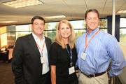 On. Sept. 19, Three Pillar Global celebrated their rebranding to 3Pillar Global, which more than 100 of the company's employees, clients, partners and community supporters attended. Included in the celebrations were, from left, Anthony Orlando of CA Technologies, Dianne Black of 3Pillar Global and independent consultant Bryan Ley.