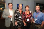 On. Sept. 19, Three Pillar Global celebrated their rebranding to 3Pillar  Global, which more than 100 of the company's employees, clients,  partners and community supporters attended. Included in the celebrations  were, from left, Aaron Thompson of Crispin Group, Katherine Ferguson of Cooley LLP, 3Pillar board member Mary Dridi and Mark Whittle of Crispin Group.