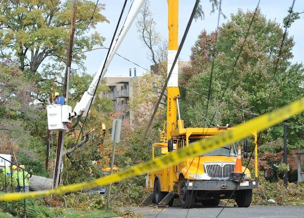 CPS Energy crews helped restore power to 10,000 households on the East Coast.