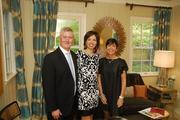 D.C. Design House founders Skip and Debbie Singleton flank interior designer Lorna Gross, who designed the study in this year's house.