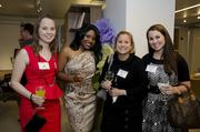"""Architecture and interior design firm Fanelli McClain hosted its annual Happy Hour Networking Event on Oct. 25. This year's theme was """"A Mad Tea Party,"""" playing off of the Mad Hatter from the Alice and Wonderland story and was hosted at the Global Showroom in D.C. Guests included, from left,Lauren LeBlanc of Williams Notaro, Samantha Powell of Fanelli McClain, Catherine Smolka and Rebecca Hannon of Cassidy Turley."""
