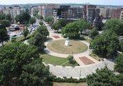 Washington Circle as seen from the Hunton & Williams' terrace.