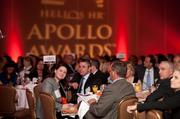 More than 400 Washington-area executives joined Helios HR for its 2012 Apollo Awards, held May 30 at the McLean Hilton. The Apollo Awards honored organizations that excel at building cultures of intention. Attendees included, from left, Ashley Baquie of MorganFranklin, Bill Weber of XL Inc., Scott Harding of FB Harding, Jim Corcoran of the Fairfax County Chamber of Commerce and Amy Levine-Murchie of Helios HR.