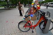 The Ballston BID, led by CEO Tina Leone, helped promote the Capital Bikeshare program's new station near the Ballston Metro on May 7.