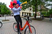 The Ballston BID helped promote the Capital Bikeshare program's new station near the Ballston Metro on May 7.