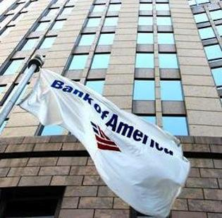 Bank of America has closed 196 offices.