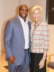 Sports, community and business mixed yet again Nov. 27 during the Pivotal Plays Awards, held at USA Today's Gannett Center. Honorees included London Fletcher of the Washington Redskins and Catherine Meloy of Goodwill of Greater Washington.