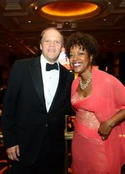 Mark Ein of Venturehouse Group and Gina Adams of FedEx at the Chamber's Choice Awards Gala, held Oct. at the Marriott Wardman Park.