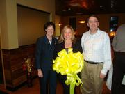 More than 100 members of the Dulles Regional Chamber of Commerce and invited guests celebrated the Coyote Grille's grand opening ribbon cutting ceremony in Fairfax on Feb. 4. From left, Sharon Bulova, Tatjana Farr and Michael Frey.