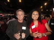 The Arlington Chamber of Commerce packed World of Beer in Ballston on  Dec. 4 for a holiday party with co-sponsors, the Ballston Business  Improvement District. Mike Stimson of SpaDC and Ruby Richter of BB&T.
