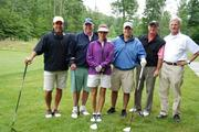 Walsh Colucci Lubeley Emrich & Walsh PC hosted its 15th annual golf tournament on June 18 at Westfields Golf Club to benefit the Juvenile Diabetes Research Foundation. The Northern Virginia law firm has hosted this tournament for 15 years, raising more than $1 million for the organization. From left, Brian Tucker of Cushman & Wakefield, Art Walsh, Nan Walsh, Ryan Bensten of The Merion Group, Jim Evans of The Evans Co. and John Cowles of JCE Inc.