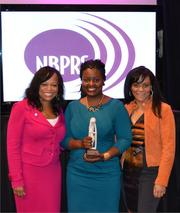 The National Black Public Relations Society gathered together Oct. 25-28 at the Dupont Circle Hotel to recognize some of their own. Amanda Miller Littlejohn of Mopwater Social PR, with NBPRS President Deborah Hyman and Executive Vice President Richelle Paine after accepting the 2012 PR Practitioner Award from NBPRS.