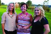 Urban Chic showcased the latest trends for fall at Early Mountain Vineyards in Madison, Va., on Aug. 23 at its Sip & Shop event. From left, Wendy Pilch of Spendalla Wardrobe Styling, Jean Case of the Case Foundation and owner of Early Mountain Vineyards and Mix 107.3 radio personality Brooke Ryan.See more photos from the Sept. 7, 2012 edition of The Back Page Extra.