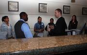 Garrett Parker, director of front office operations at the Washington Hilton, explained how to manage the front desk.