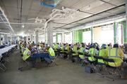 Prosperity Flats held a topping out party Aug. 27. The site crew enjoyed barbecue.