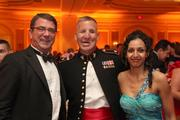 The Pentagon Federal Credit Union Foundation (PenFed Foundation), a  nonprofit organization working to meet the unmet needs of military  personnel and their families, announced it raised a record-breaking  $823,000 at its Eighth Annual Night of Heroes Gala, which took place May  24 at The Ritz-Carlton, Washington, D.C. From left, Deputy Secretary of  Defense Ashton Carter, Major Justin Constantine and Dahlia Constantine,  recipient of the PenFed Foundation's Hero at Home Award.See         more photos from the June 1, 2012 edition of The Back Page Extra.