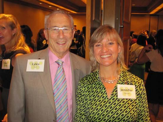 Lyles Carr of The McCormick Group and Jennifer Cortner of Discovery  Communications and a WAWF board member at the Oct. 24 Washington Area  Women's Foundation Leadership Luncheon.