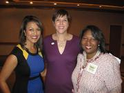 From left, Lesli Foster of WUSA9, Nicky Goren, president of the Washington Area Women's Foundation, and Rosie Allen-Herring of Fannie Mae and luncheon co-chair, at the Washington Area Women's Foundation Leadership Luncheon, held Oct. 24 at the Grand Hyatt Washington.