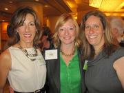 From left, Mary Abbajay of the Careerstone Group, Abby Fenton of WJLA/NewsChannel 8 and Veronica Nolan of the Urban Alliance, at the Washington Area Women's Foundation Leadership Luncheon, held Oct. 24 at the Grand Hyatt Washington.