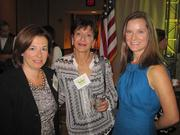 From left, Gail Reisman, with Susan Hasten and WAWF board member Beth Johnson, both of RP3 Agency, at the Washington Area Women's Foundation Leadership Luncheon, held Oct. 24 at the Grand Hyatt Washington.