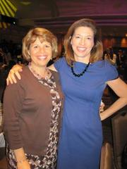 Lidia Soto-Harmon of the Girl Scout Council of the Nation's Capital, left, with Alice Hockenbury of the Girl Scouts of the USA, at the Washington Area Women's Foundation Leadership Luncheon, held Oct. 24 at the Grand Hyatt Washington.