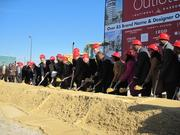 Tanger Outlets and The Peterson Cos. broke ground Nov. 29 on the Tanger Outlets Center National Harbor.