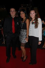 The Greater Reston Chamber of Commerce and the Dulles Regional Chamber  of Commerce came together Aug. 23 for their annual networking soiree  celebrating business in the Dulles Corridor. The event was held at  TriVision Studios in Chantilly. From left, David Casterline, Tabby Lufti and Meredith Rigby of TriVision Studios.