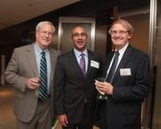The first Mid-Atlantic Cleantech Open, held on Oct. 10 at Patton Boggs  LLP, brought together guests including, from left, Robert Snyder of Bethesda Green, Joshua Greene of Patton Boggs and Stevan Holmberg of American University's Kogod School of Business.