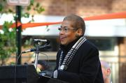 Congresswoman Eleanor Holmes Norton was among those celebrating the opening of  Trilogy NoMa, a 603-unit, Class A multifamily community and new section  of Q Street, on Nov. 29.