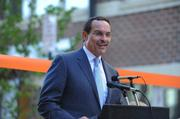 D.C. Mayor Vincent Gray was among those celebrating the opening of Trilogy NoMa, a 603-unit, Class A multifamily community and new section of Q Street, on Nov. 29.
