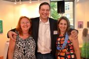 Let's Help Kids held an art auction Aug. 25 at the Greater Reston Arts  Center to raise money for children whose families are experiencing  financial hardship, and seeks to provide them with items or experience  that they otherwise couldn't afford. The nonprofit was founded by Rachel  Harris, daughter of Jen Sterling of Red Thinking. The event featured  food from Il Fornaio and a silent auction with works from local artists. Contributing artist Sarah Burton, Damian Sinclair of GRACE and Claire Meade of MorganStanley.