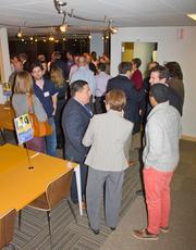 Link Locale, a new coworking and meeting room space in Clarendon, held a grand opening reception on Jan. 15 with more than 40 Northern Virginia entrepreneurs, local university and government officials in attendance.