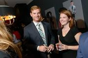 At the Michael Andrews Bespoke opening, Jeff Diguette of URS Corp. and Ali Wardle.