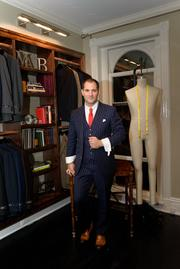 At the Michael Andrews Bespoke opening, Michael Andrews of Michael Andrews Bespoke.