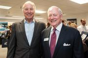 Payroll Network celebrated its 15th anniversary with a few hundred of its closest friends Sept. 13 that the company's new offices. Taking part in the 15-year fete were Maryland Comptroller Peter Franchot, left, with Payroll Network's CEO Charlie Wolf.