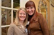 Leadership Fairfax held its 16th annual Northern Virginia Leadership  Awards on Nov. 8 at Westwood Country Club in Vienna. The awards  celebrate the leaders who make a difference in the Fairfax and  surrounding communities. Cate Fulkerson of Reston Association, left,  with Jen Sterling of Red Thinking.