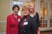 Leadership Fairfax held its 16th annual Northern Virginia Leadership  Awards on Nov. 8 at Westwood Country Club in Vienna. The awards  celebrate the leaders who make a difference in the Fairfax and  surrounding communities. From left, Fairfax County Board of Supervisors  Chairman Sharon Bulova, Catherine Read of Creative Read Inc. and Karen  Cleveland of Cleveland Coaching Group.