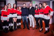 Seth McClelland and Niko Papademetriou celebrated the three-year  anniversity of their Dupont Circle restaurant One Lounge on Dec. 6.  Guests came bearing more than 300 holiday toys to be donated to the  Washington Children's Hospital. One Lounge co-owners Niko Papademetriou and Seth McClelland with the girls of One Lounge.