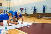 Over 100 business officers from colleges and universities around the  country gathered at Kelly Miller Middle School in D.C. on July 28 to  help paint and revitalize the facility. The volunteer effort, supported  by TIAA-CREF and American University, was part of the National  Association of College and University Business Officers' annual meeting,  held that week in Washington.