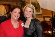 The Greater Reston Chamber of Commerce celebrated its 30th anniversary  on Dec. 1 at the Sheraton Reston Hotel. Marion Myers, left, with Megan Myers.