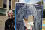 "On. Aug. 2, about 40 TASC employees at one of  the company's downtown D.C. locations blew off some steam with a ""Pie the Tie"" event for the benefit of the Vets Ready2Work program at Linden Resources, an Arlington-based charity. They raised $1,100 throwing whipped cream pies at 13 colleagues. Shown here is Bill Copeland, a manager on TASC's program supporting the Federal Aviation Administration."