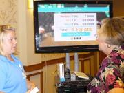 A total of 233 retirees on June 26 learned how to stay connected with  their families, track personal finances and health care information and  be entertained at the Riderwood Digital Tech Expo at Riderwood  retirement community in Silver Spring. An attendee viewed a calorie burner demonstration.