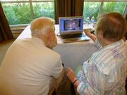 A total of 233 retirees on June 26 learned how to stay connected with  their families, track personal finances and health care information and  be entertained at the Riderwood Digital Tech Expo at Riderwood  retirement community in Silver Spring. Retirees viewed a Skype demonstration.