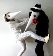 Design Army takes design seriously — and that apparently applies to  Halloween costumes as well. The staff of the Washington design firm (and  their alter egos) include Sucha Becky and Mariela Hsu as Spy vs. Spy.
