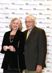"""Celebrities, business leaders, journalists and newsmakers gathered at  the Phillips Collection for a reading of the first act of Trish  Vradenburg's play """"Surviving Grace,"""" in which WAMU's Diane Rehm played  the lead role of Grace. The event was a fundraiser for the Vradenburgs'  nonprofit organization, USAgainstAlzheimer's Network, and raised  $150,000. Irene and Alan Wuetzel."""